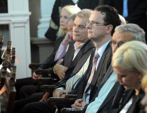 160 godina od rodjenja Mihajla Pupina, rektorat, patrijarh Irinej, ministar nauke, Srdjan Verbic<br /> Beograd 30.09.2014<br />Foto: Petar Milosevic